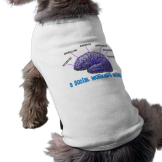 Unique Social Worker Gifts-A Social Worker's Mind Doggie Shirt