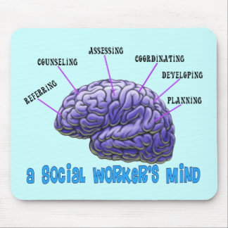 Unique Social Worker Gifts-A Social Worker's Mind Mousepads