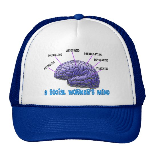 Unique Social Worker Gifts-A Social Worker's Mind Trucker Hat