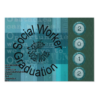 Unique Social Worker Graduation Invitations 2012