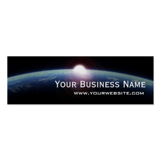 Unique Space Sunrise Mini Business Card