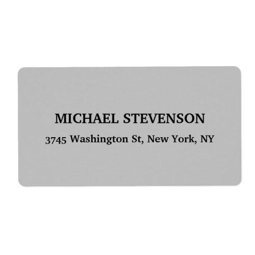 Unique Special Classical Grey Minimalist Plain Label