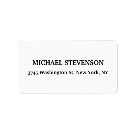 Unique Special Classical Return Address Label