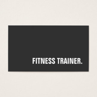 Unique Special Grey Fitness Trainer Business Card