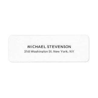 Unique Special Personal Return Address Label