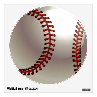 Unique Special Trendy Baseball Circle Wall Decal