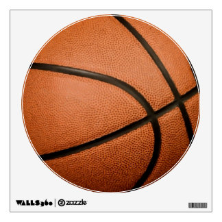 Unique Special Trendy Basketball Circle Wall Decal
