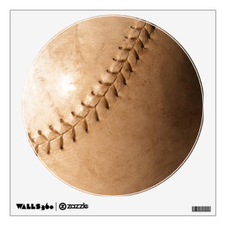 Unique Special Vintage Baseball Circle Wall Decal