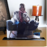 "Unique Stand Up Acrylic Photo Sculpture Statuette<br><div class=""desc"">Design your own photo gift. Zazzle custom photo sculptures enable you to turn your favorite photo or portrait into an unique keepsake. Create a 3-D photo sculpture, sometimes referred to as a photo cutout. High Quality! Just under a 1/4"" thick, the back and the stand is a glossy black acrylic....</div>"