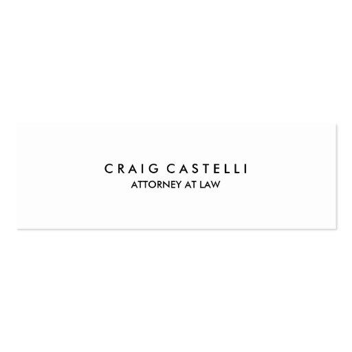 Unique Standard Slim Size Business Card