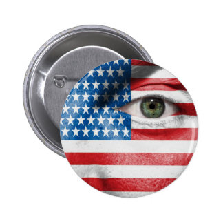 Unique Stars and Stripes design on your Cool Gift Pinback Button
