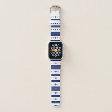 USA Themed Unique Stars and Stripes Pattern Apple Watch Band