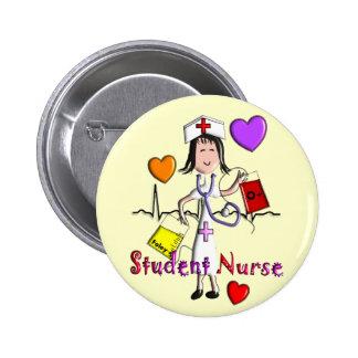 Unique Student Nurse Gifts 3D Graphics Pinback Button