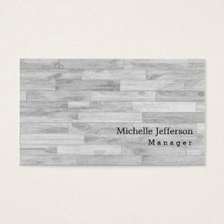 Unique Stylish Grey Parquet Business Card