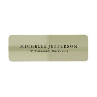Unique Stylish Modern Elegant Return Address Label