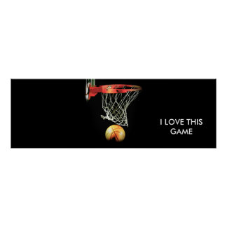 Unique Stylish Panoramic Basketball Poster
