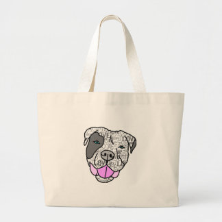 Unique & Stylish Pit Bull Love Graphic Large Tote Bag