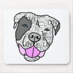Unique & Stylish Pit Bull Love Graphic Mouse Pad