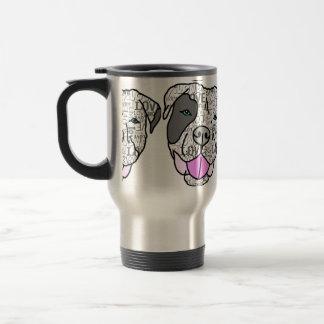 Unique & Stylish Pit Bull Love Graphic Travel Mug