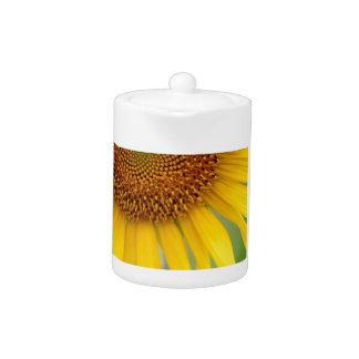 Unique Sunflower Photo Teapot