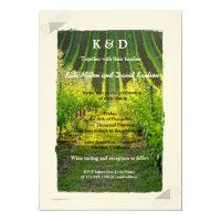 Unique Sunshine Vineyard Winery Wedding Invitation