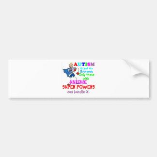 Unique Super Powers Autism Bumper Sticker