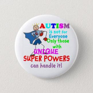Unique Super Powers Autism Button