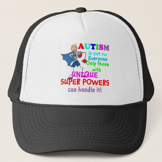 Unique Super Powers Autism Trucker Hat
