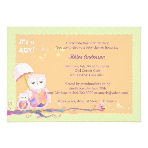 unique sweet owls baby boy baby shower invites zazzle