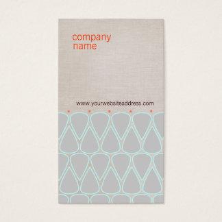 Unique Teardrop Pattern Retro Business Card