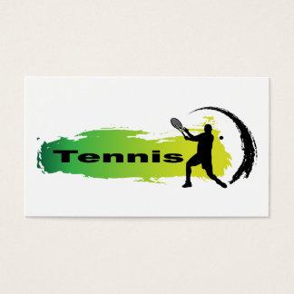 Unique Tennis (Male) Business Card