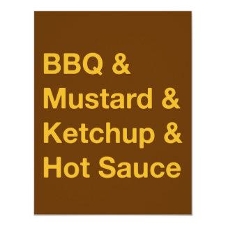 Unique text design BBQ invite