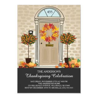 Unique Thanksgiving Celebration Dinner Party Card at Zazzle
