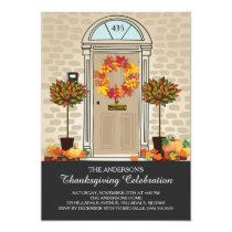 Unique Thanksgiving Celebration Dinner Party Invitation