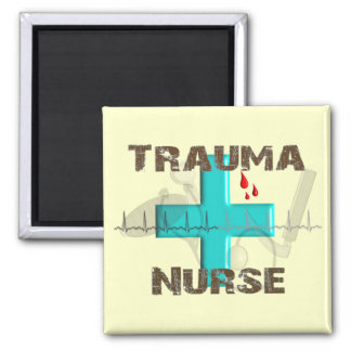 Unique Trauma Nurse T-Shirts and Gifts 2 Inch Square Magnet