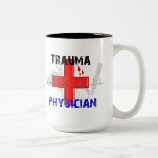 Unique Trauma Physician T-Shirts and Gifts Two-Tone Coffee Mug