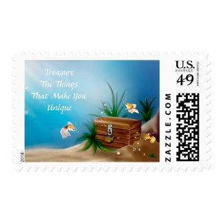 Unique Treasure Chest Inspirational Stamp