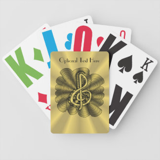 Unique Treble Clef Music Art Bicycle Playing Cards