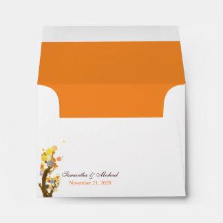 Unique Tree Theme Wedding Invitation A2 Envelopes