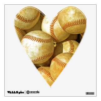 Unique Trendy Love Baseball Heart Wall Decal