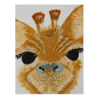 Unique Trendy Modern Eye Catching design Giraffe Postcard
