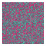 Unique Trendy Wavy Swirly Pink Turquoise Abstract Photo