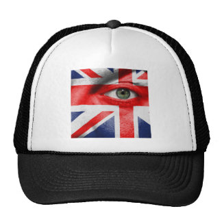 Unique Union Jack Design on this Cool Gift Trucker Hat