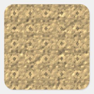 Unique unusual pattern square sticker
