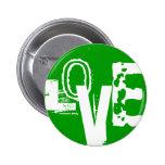 Unique Urban LOVE Graffiti Design Pinback Button