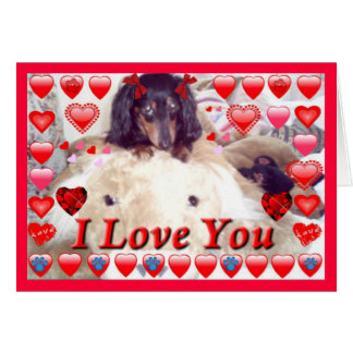 UNIQUE VALENTINES GIFTS - DACHSHUND GREETING CARDS