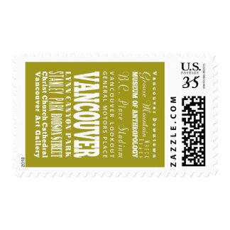 Unique Vancouver, British Columbia Gift Idea Stamp