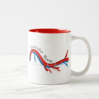 Unique Vascular Nurse Gifts Two-Tone Coffee Mug