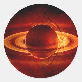 Unique view of Saturn Classic Round Sticker