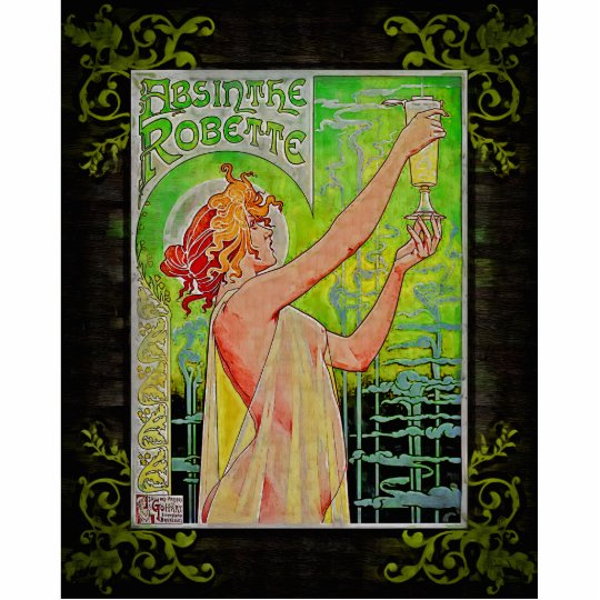 Unique Vintage Absinthe Green Fairy Cutout